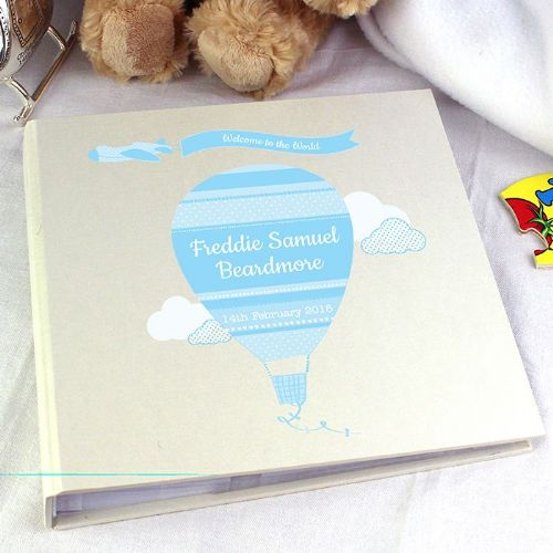 Personalised Up & Away Boys Album with Sleeves